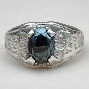 Vintage heavy sterling Clark & Coombs ring